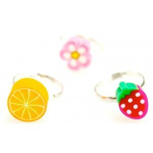 bague-enfant-fimo-fruits-dessert-flower