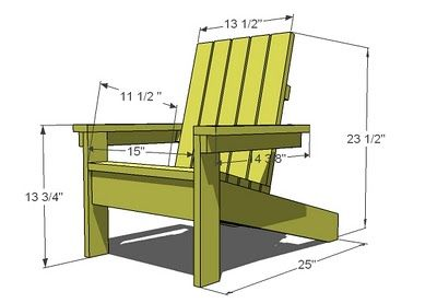 Ja learn plan pour chaise adirondack for Chaise adirondack bois
