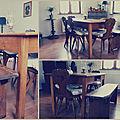 Table et banc terminés