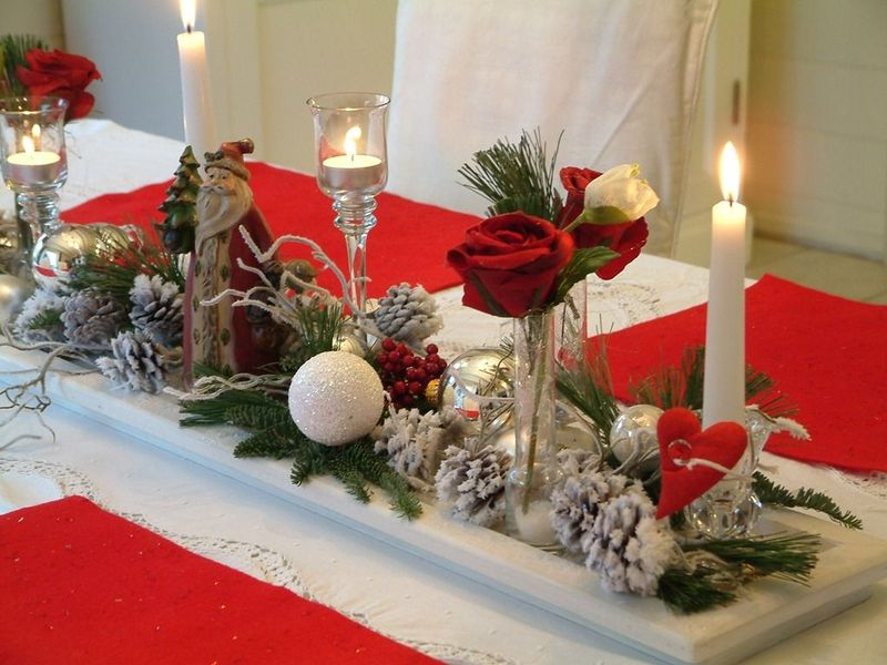 centre de table noel a faire