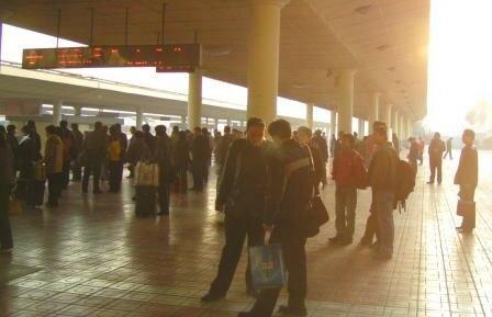 En attendant l espress Tianjin Pékin