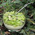 Pannacotta vanille kiwi: la saint-patrick, c'est pour bientôt!