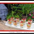 Offrandes à bouddha : des verrines rafraichissantes, couleur soleil