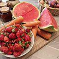 Jus de pastèque, fraises et carottes !