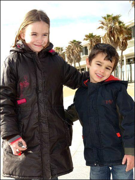 Adriel et Julie en promenade
