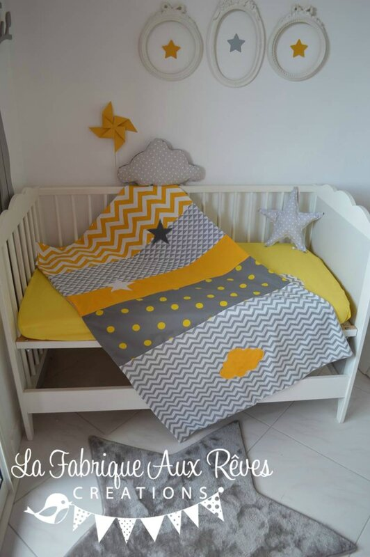 article - Chambre Bebe Jaune Moutarde