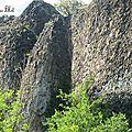 Les falaises de blot en haute loire