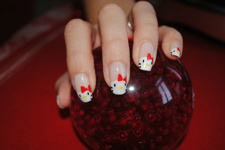 nail art hello kitty (2)