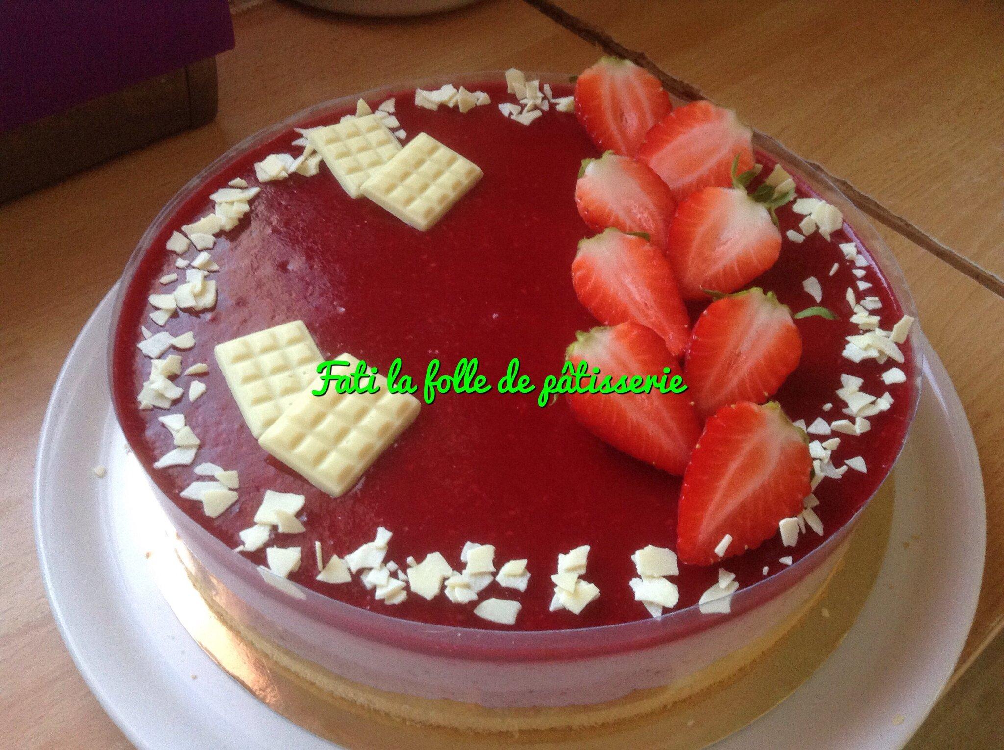 Bavarois fraise framboise