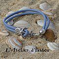 Un tour à l'océan pour que ce bracelet ancre de bateau en cuir retrouve son navire pour prendre le large ?