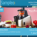 Sampleo : pressoirs a jus infiny juice moulinex a tester 🎁