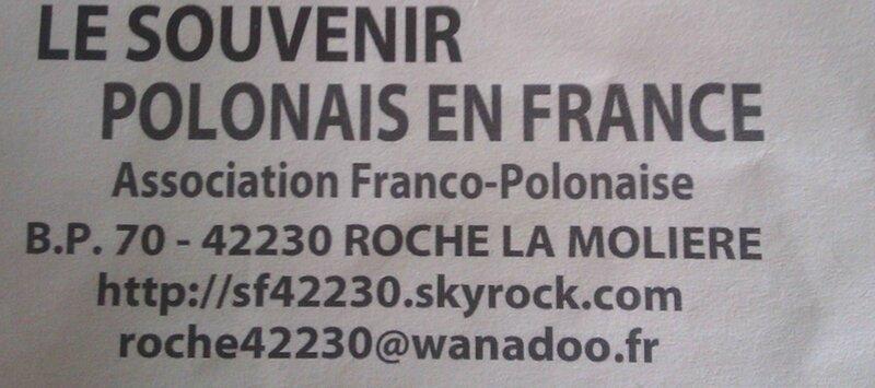 souvenir POLONAIS de FRANCE
