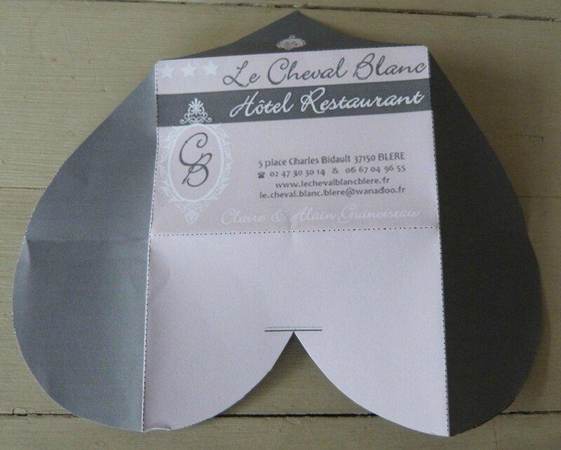 Enveloppe Coeur - Le Cheval Blanc (1)