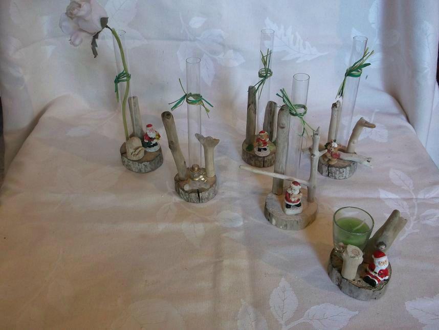 Des centres de tables des soliflores bougeoirs for Centre de table de noel en bois flotte