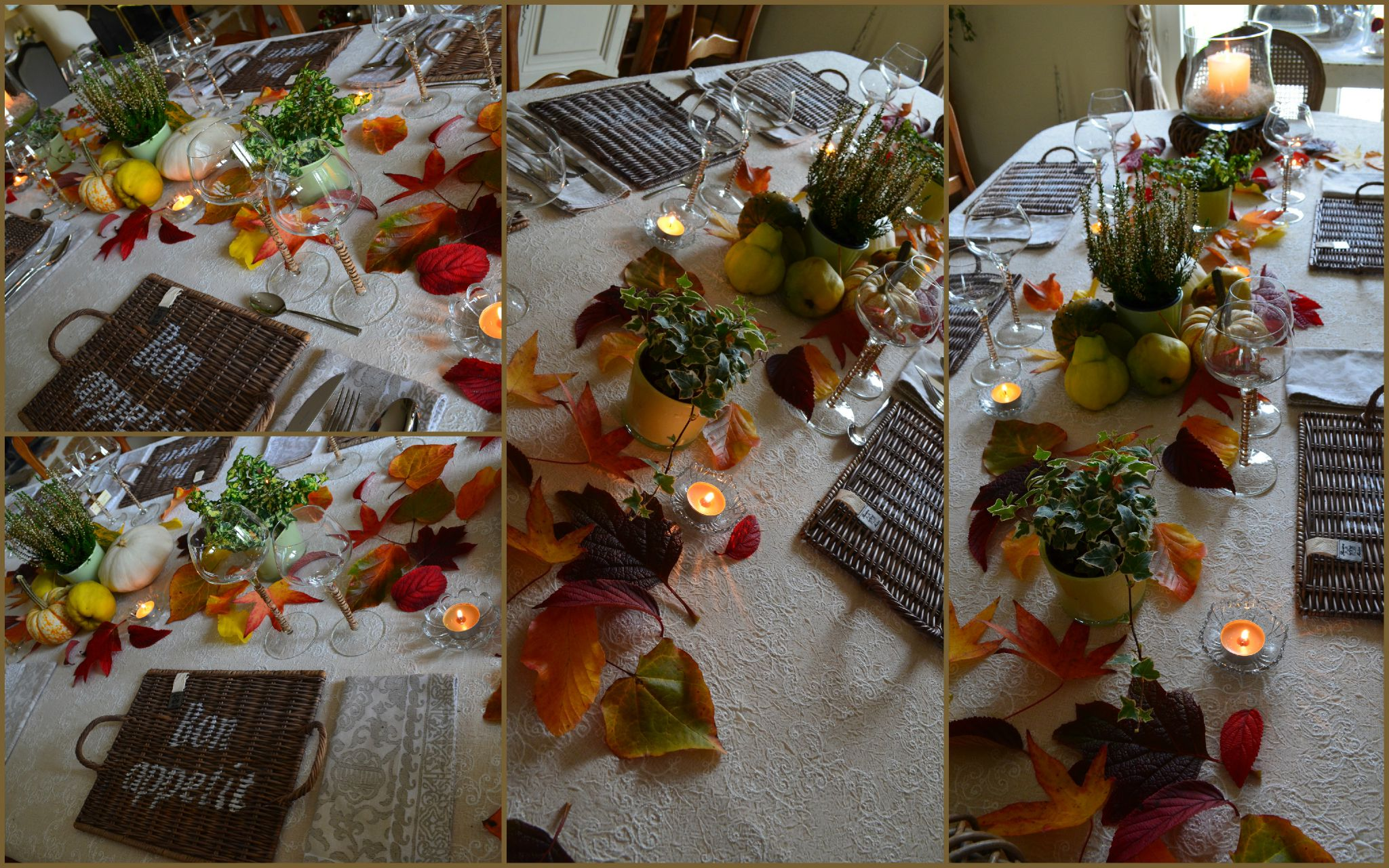 Photo Table Decoration Theme Automne : Quand l automne s invite a table une fee d hiver