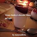 Mousse bailey's-chocolat blanc, gelée de café