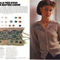 100 idées la saga des tricots dentelle : le gilet papillon