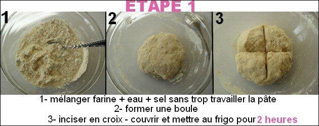 pâte feuilletée étape 1