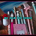 Ma jolie box kawaii - haul/test 2