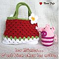 Serial Crocheteuse 164 : sac petite fille et cadre au crochet  la fraise