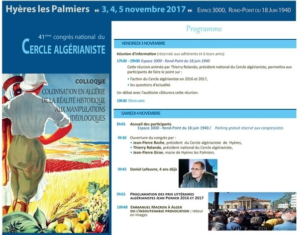 Cercle algérianiste congrès 1