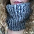 snood tricotin géant lilybouticlou