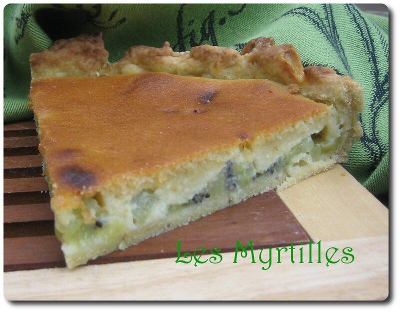 tarte amande kiwi