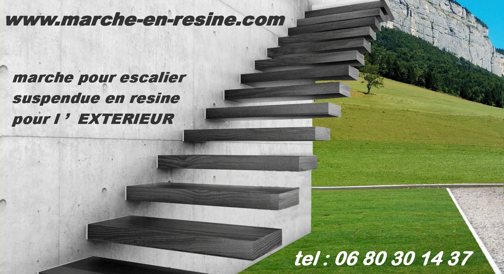 floating stair concrete steps escalier suspendu paris renseignement tel 0680301437. Black Bedroom Furniture Sets. Home Design Ideas