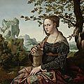 Jan van scorel (1495-1522), marie madeleine, vers 1530