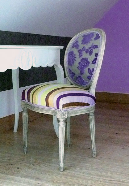 08 chaise m daillon louis xvi mauve photo de 01 le relais louis xi meung sur loire. Black Bedroom Furniture Sets. Home Design Ideas