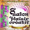 Salon du plaisir créatif 3 et 4 octobre 2015