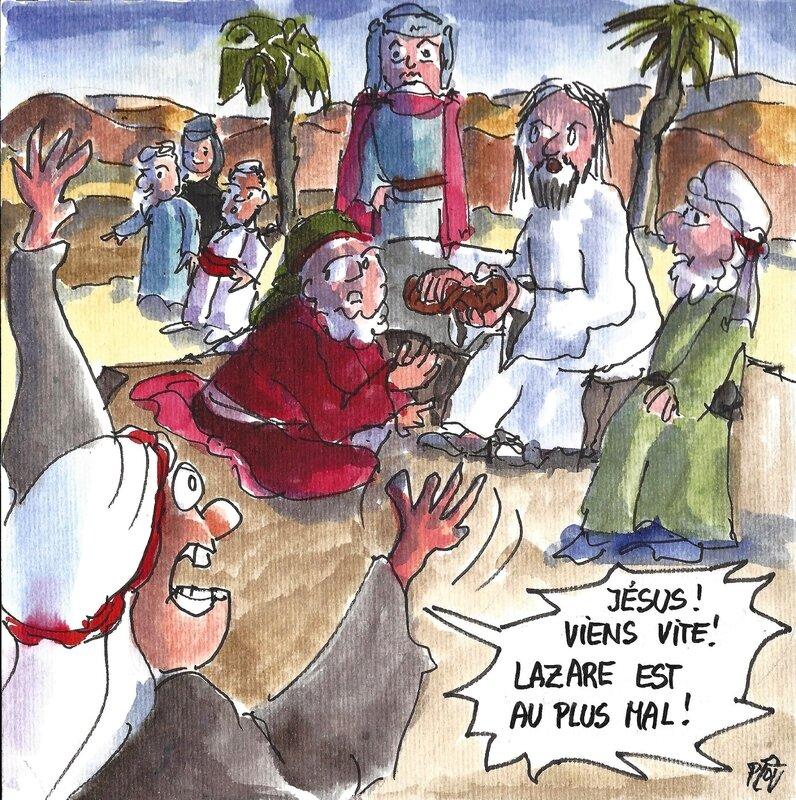 18 03 11 Annonce à Jésus de la maladie de Lazare