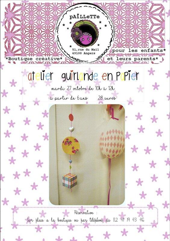 Affiche Ateliers 271010 guirlande papier
