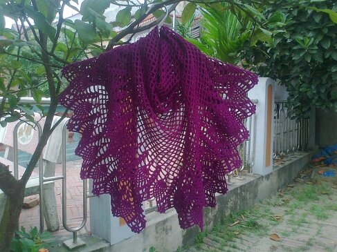 purple-pineapple-shawl