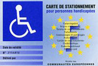 carte de stationnement europ enne pour les handicap s mon combat contre la fybromyalgie. Black Bedroom Furniture Sets. Home Design Ideas