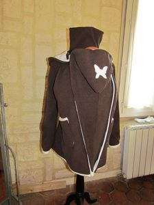 veste de portage chocolat doublé chocolat blanc féérique (5)