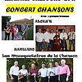 Concert chansons au profit du patrimoine revermontois - samedi 26 octobre