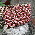 Bracelet rocailles corail