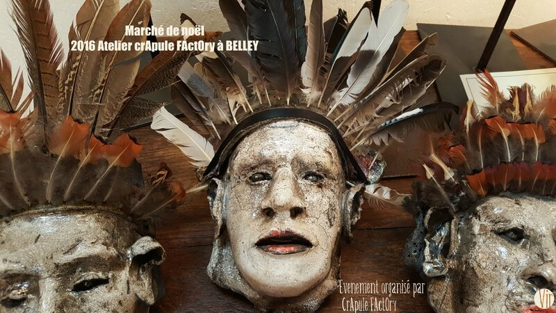 Marcvhé de NOEL BELLEY DES CREATEURS DU BUGEY ORGANISE PAR CRAPULE FACTORY STEPHANIE ERLICH-MAUJEAN A LATELIER avec VIR sculture