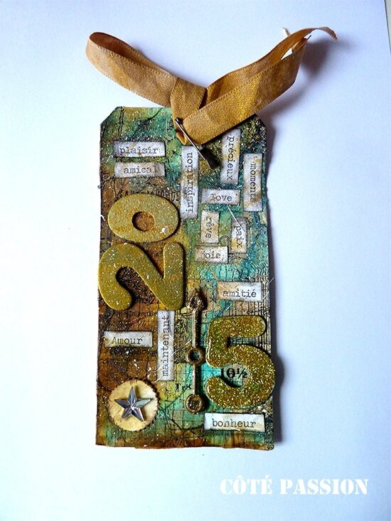Coté Passion Tim Holtz 1 Tag January