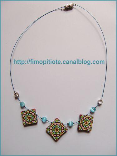 Bijoux pate fimo collier bracelet boucles d oreilles (102)
