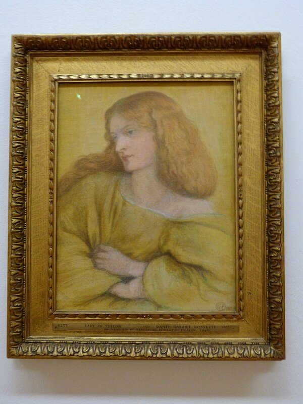 Dante Gabriel Rossetti woman in yellow