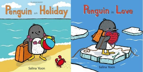 Penguin on Holiday and Penguin in love Salina Yoon