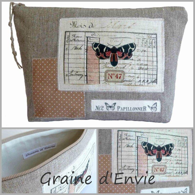 trousse en lin papillon blog1