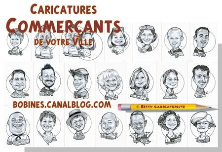 caricatures commercants commerce magasin
