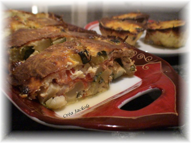 Cake courgettes et tomates