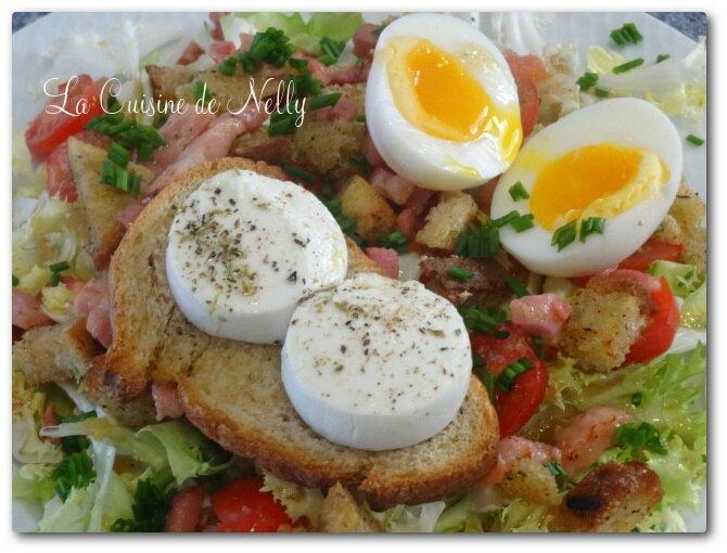 SaladeChèvreChaudLardonsOeufsmollets1