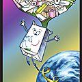 Déchets cartons La brique de lait s'envole au recyclage - Ecologie enfants - Waste cardboard