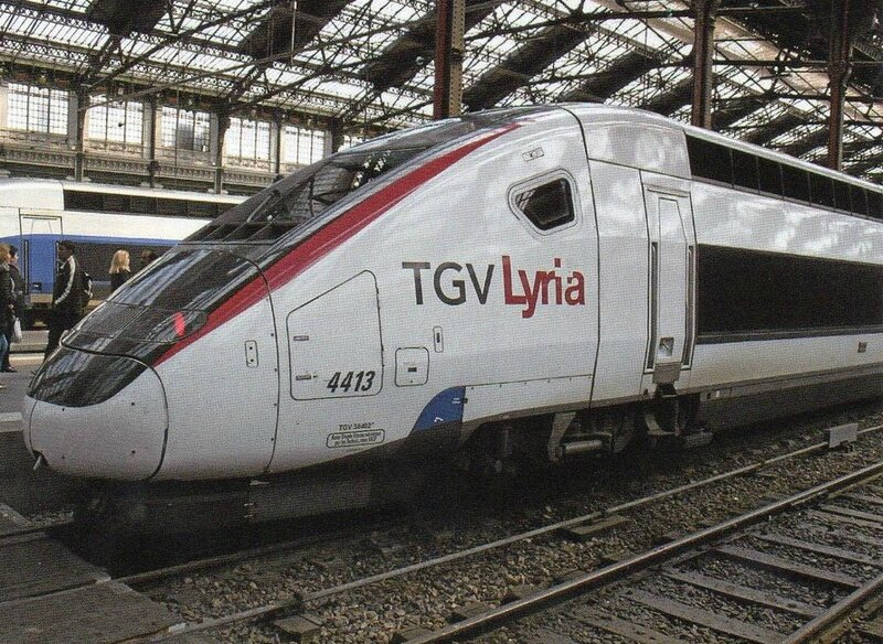CPM TGV Lyria en Gare de Paris Lyon