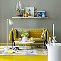 Deco & Colors ❤ duo de jaune & gris